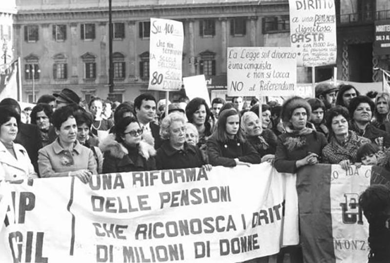 манифестация на 8 марта в италии