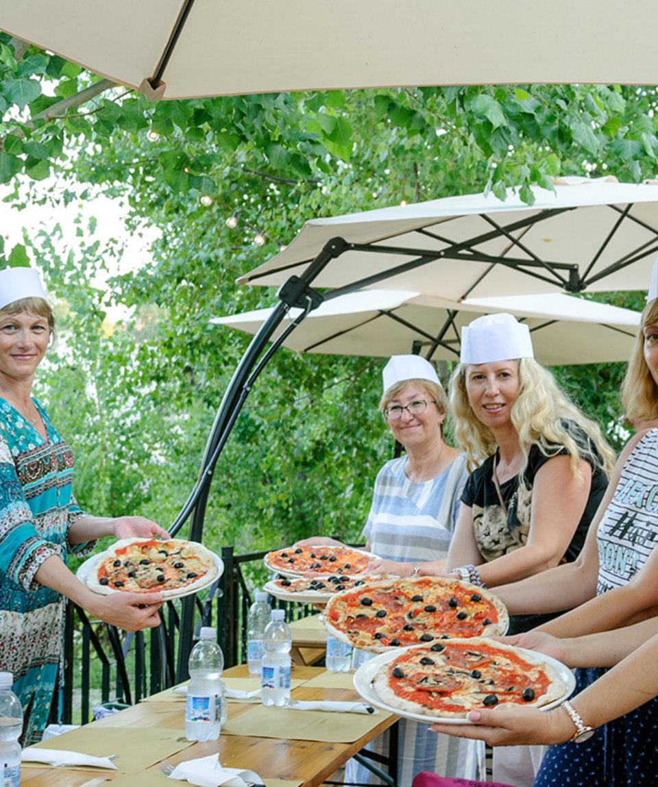 Мастер-класс по пицце на открытом воздухе
