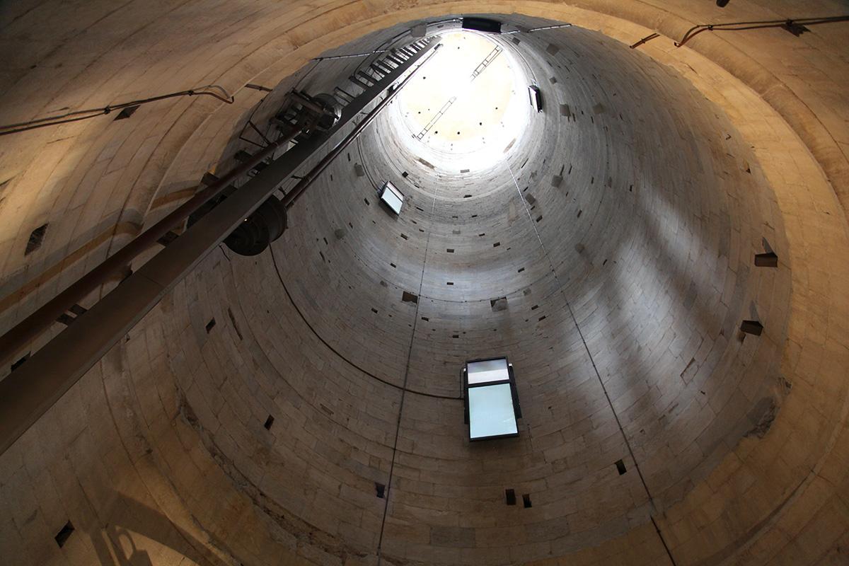 Пизанская башня: вид изнутри