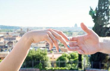 предложение руки и сердца в Риме июль2