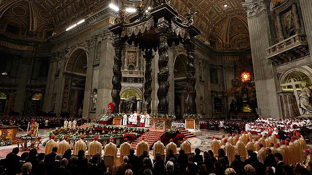 Рождественская месса в соборе Святого Петра
