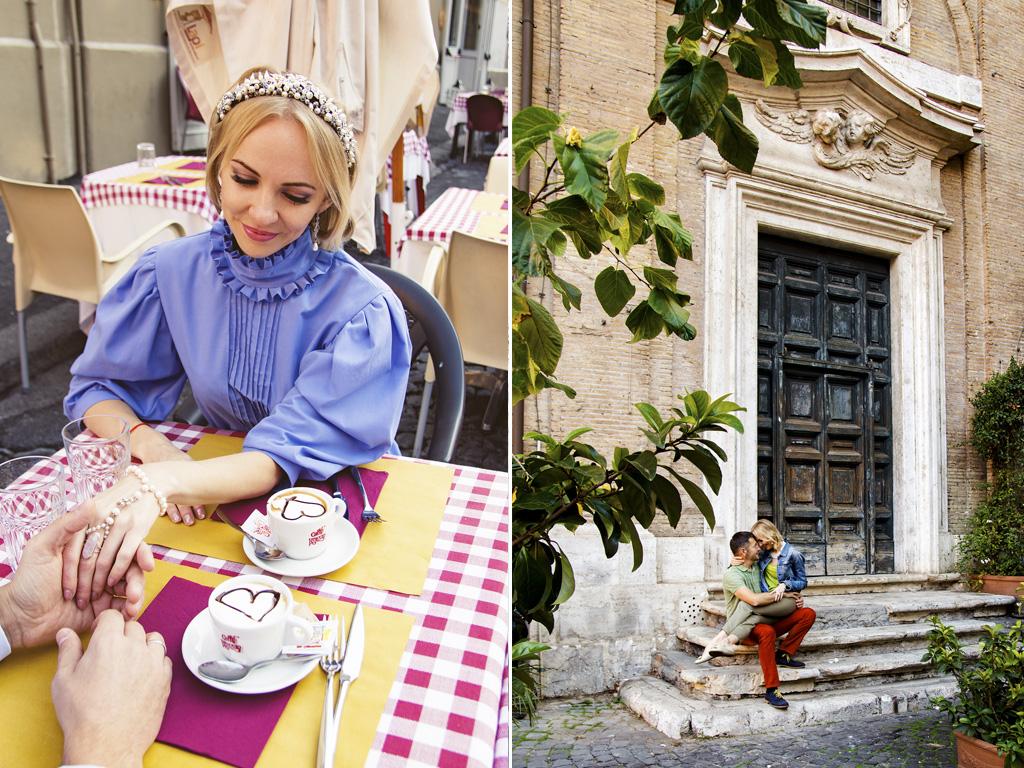 фотосессия love story в Риме