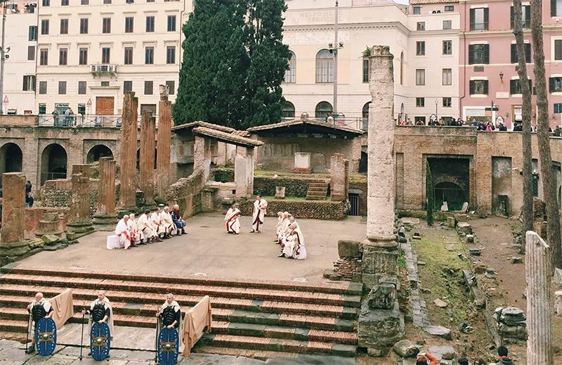 сцена смерти Юлия Цезаря