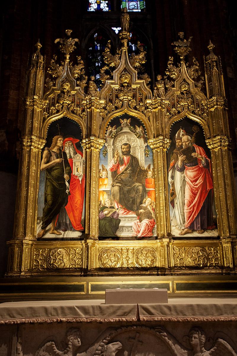 Санта-Мария-Глориоза-деи-Фрари Триптих Св.Марк и Святые