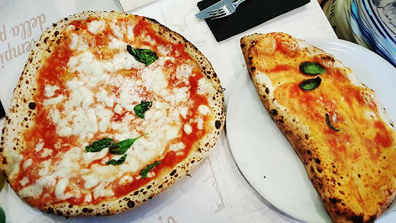 пицца маргарита и пицца кальцоне