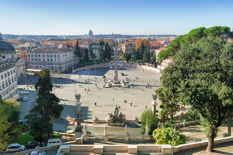 Piazza del Popolo Народная площадь в Риме
