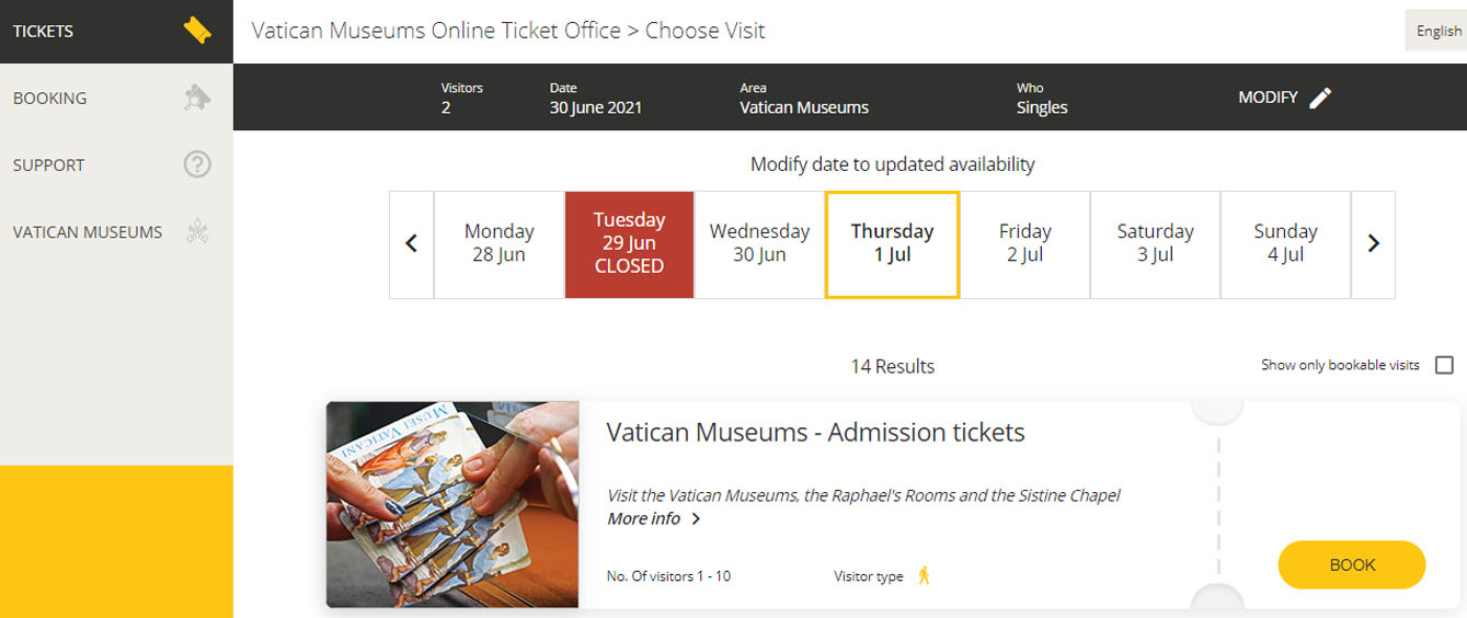 билеты в ватикан какие есть варианты