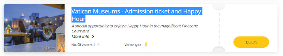 Admission Ticket and Happy Hour