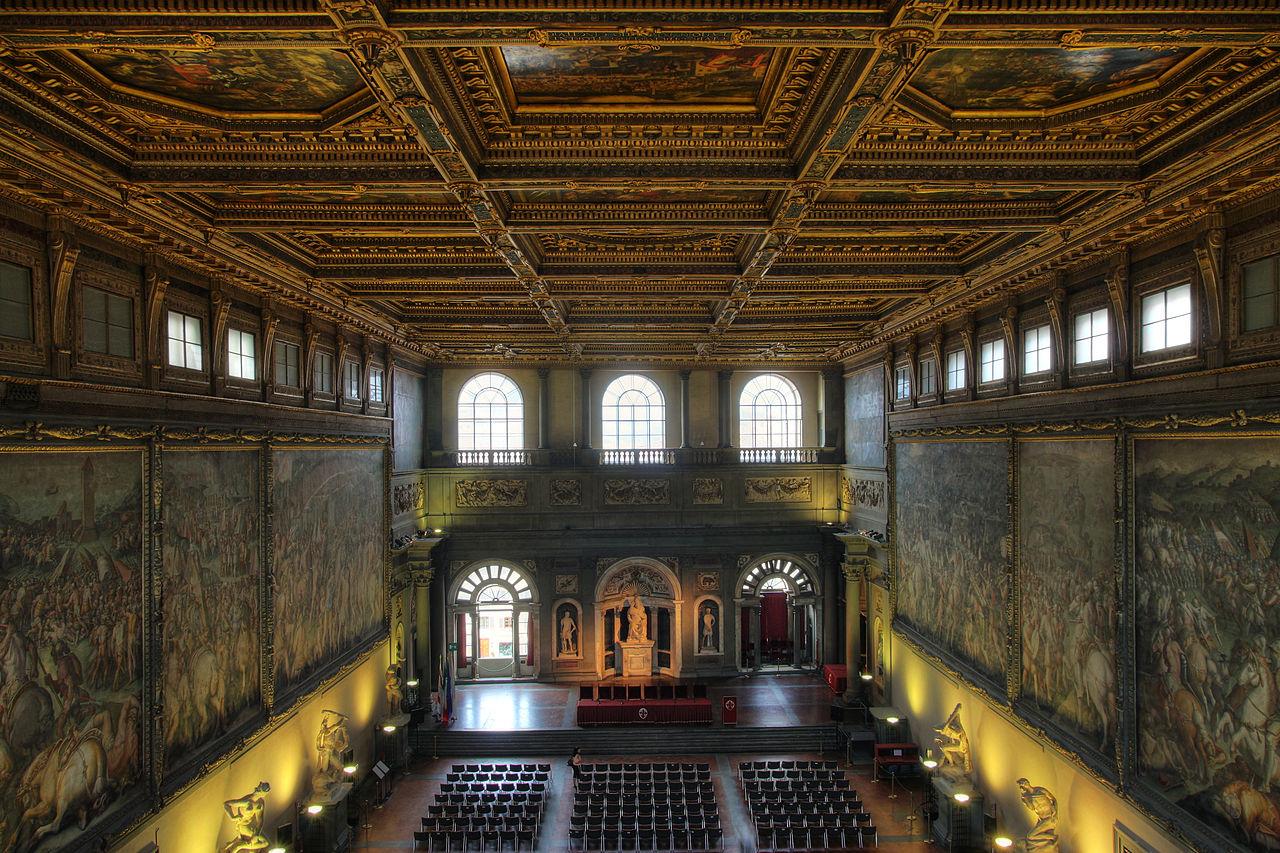 Зал палаццо Веккьо, для которого была заказана фреска