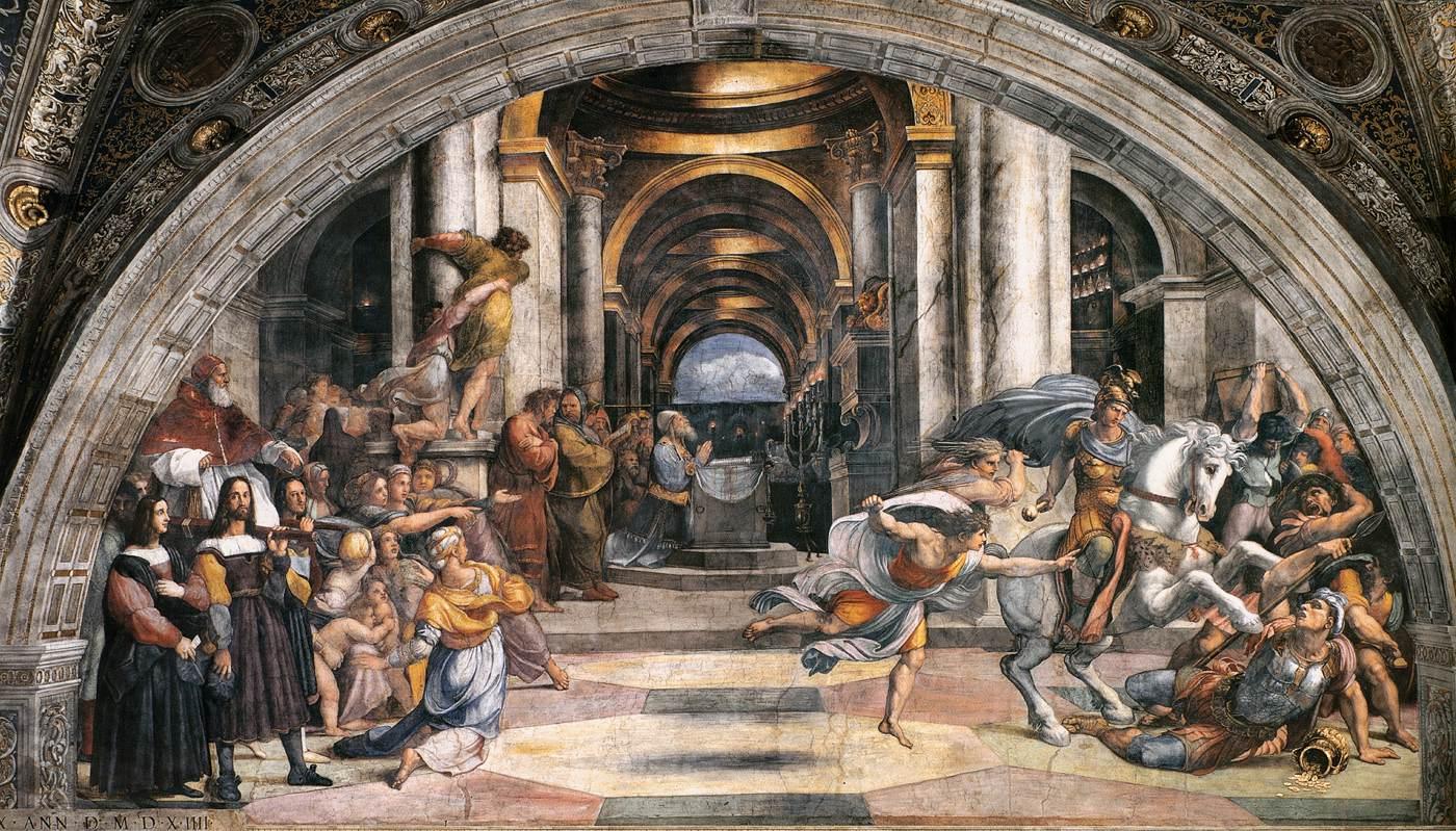 Изгнание Элиодора из Храма, 1511-1512 гг.