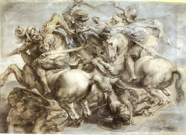 «Битва при Ангиари». копия Питера Пауля Рубенса