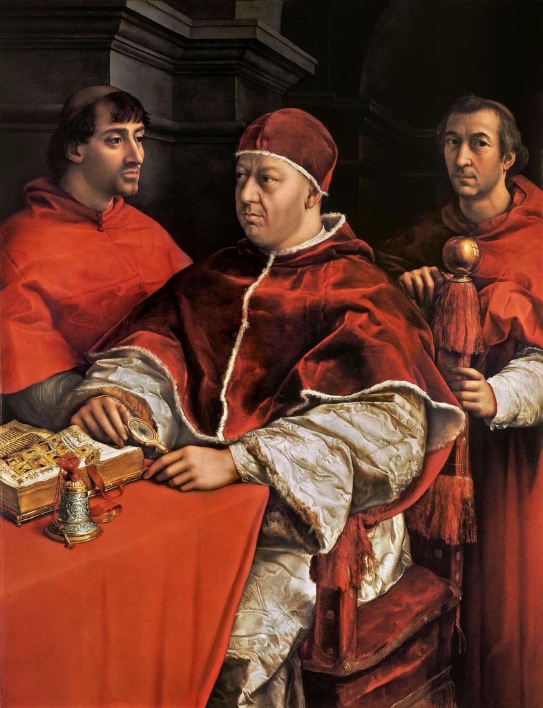 Папа Лев X с двумя кардиналами