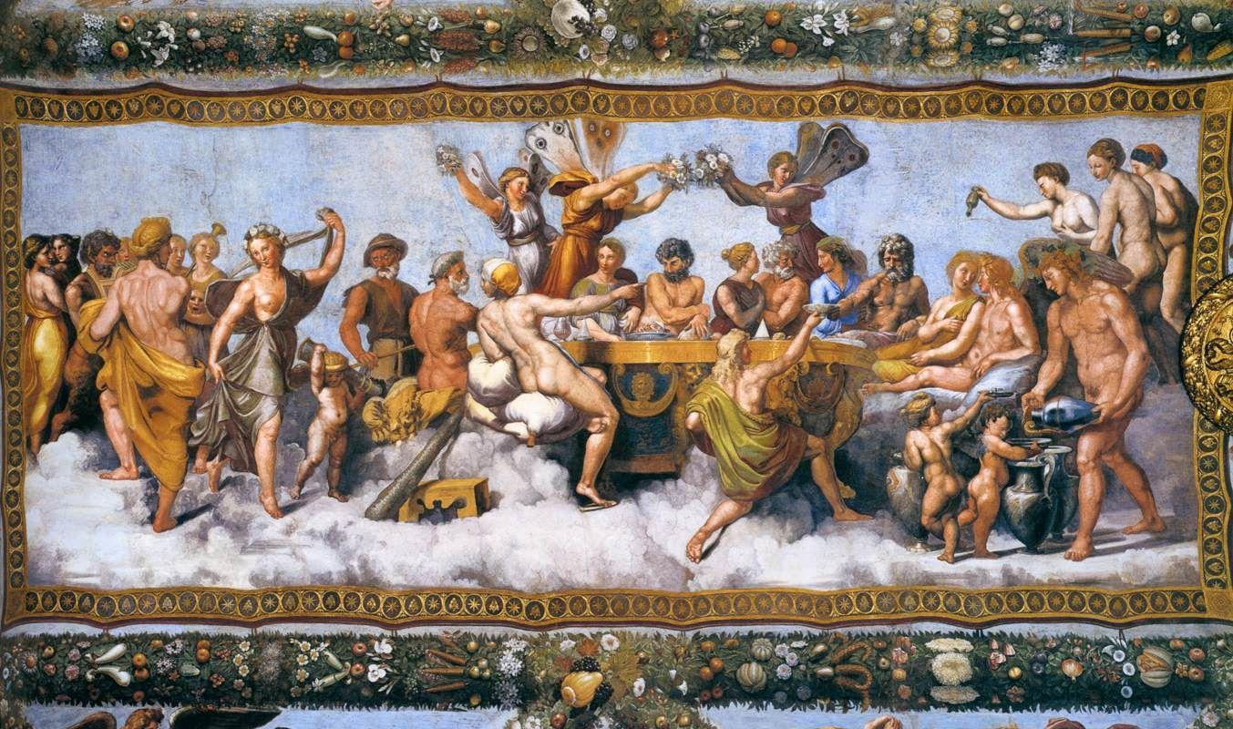 Свадебный пир Амура и Психеи, 1518-1519 гг.