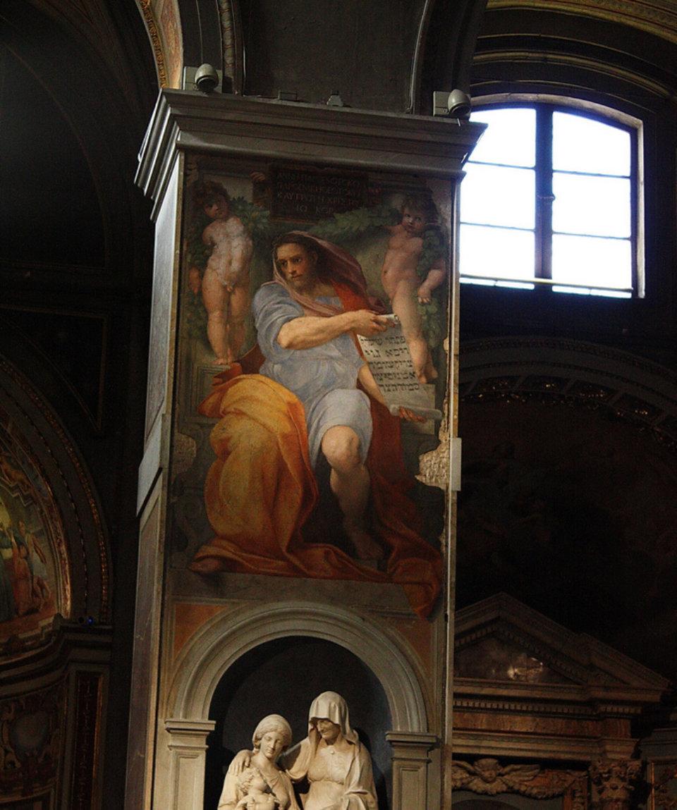 Фреска Пророк Исайя в церкви Сант-Агостино