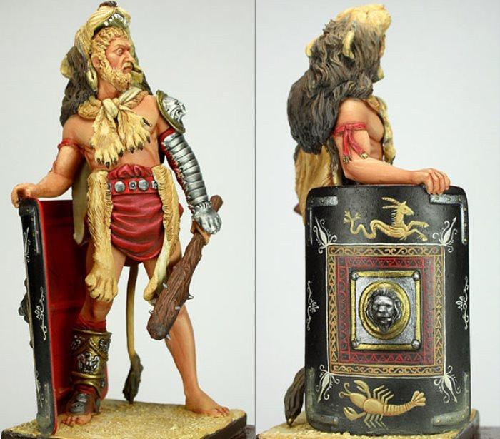 Император Коммод в образе гладиатора