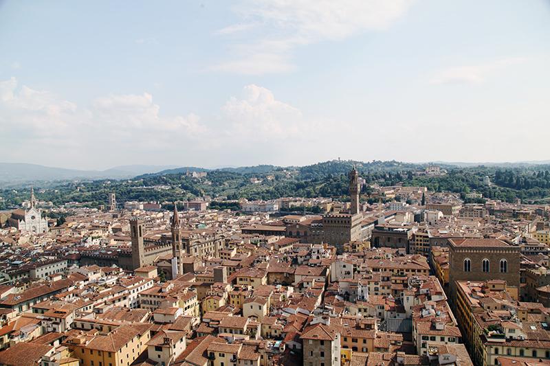 Вид со смотровой площадки колокольни Джотто