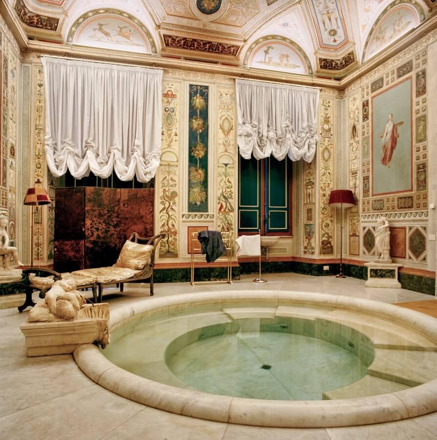 Ванная комната в личных покоях в Палаццо Дориа Памфили