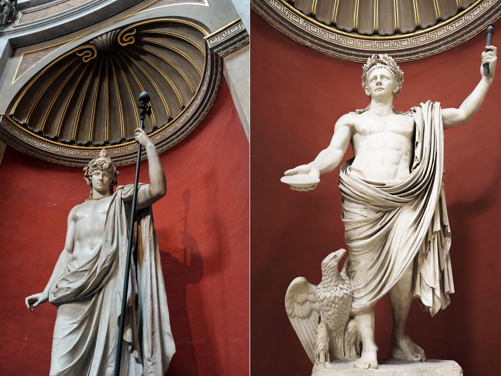 Антиной Браски и император Клавдий в роли Юпитера Капитолийского