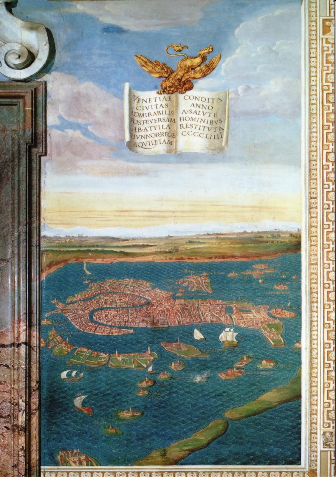 Венеция в галерее географических карт