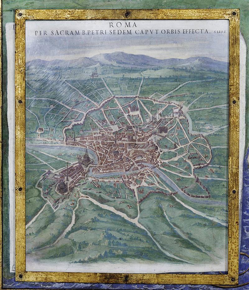 Карта Рима галерея географических карт