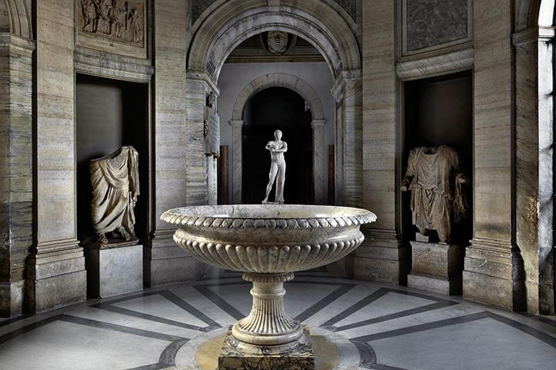 Круглый вестибюль музей Пио-Клементино