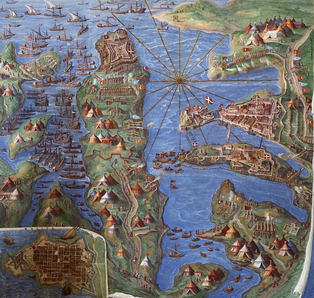 Осада Мальты галерея географических карт