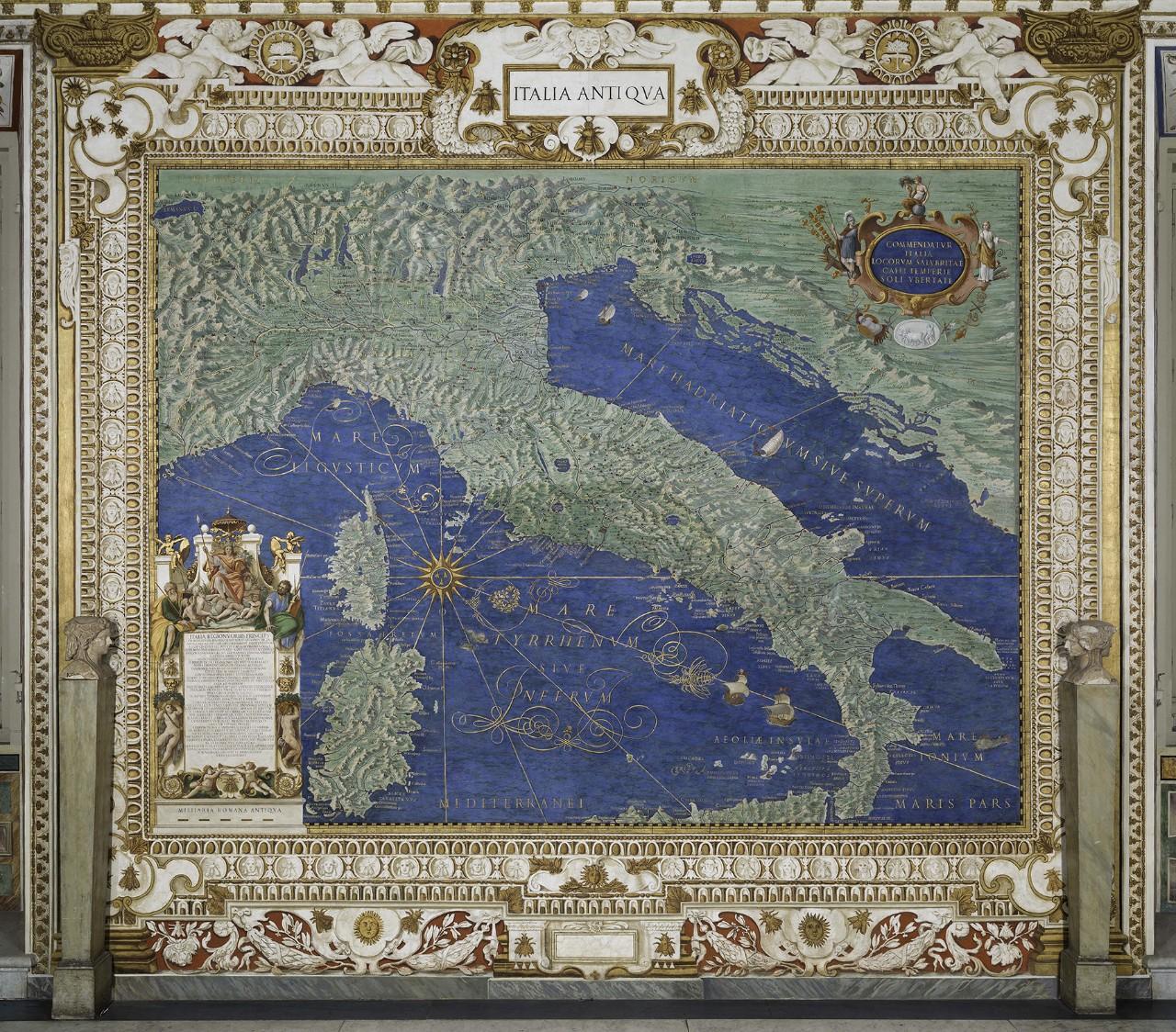 Карта Древней Италии