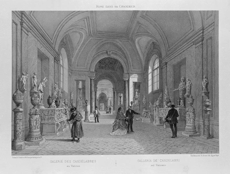 Галерея канделябров в 1870 г.