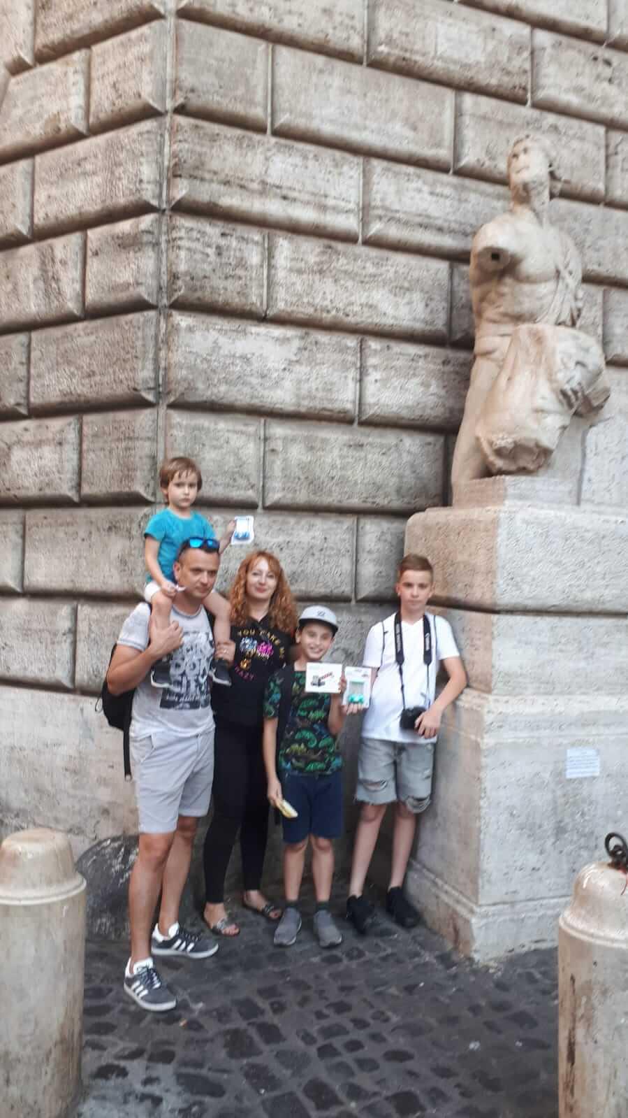 Участники детского квеста в Риме 30.06.2019