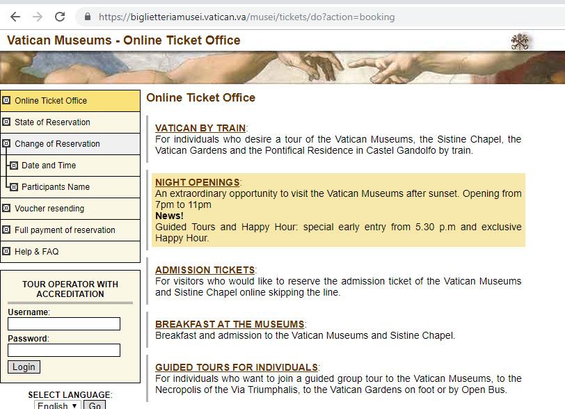 Как забронировать билеты на вечерний Ватикан