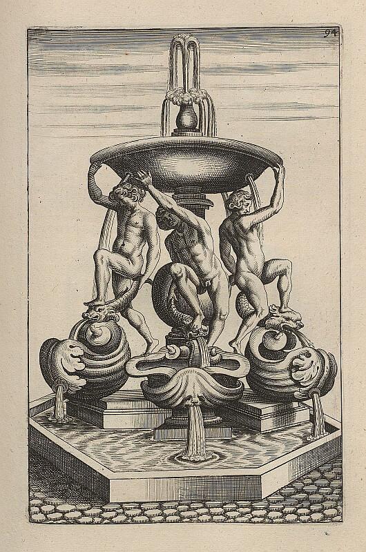 Гравюра фонтан Черепах