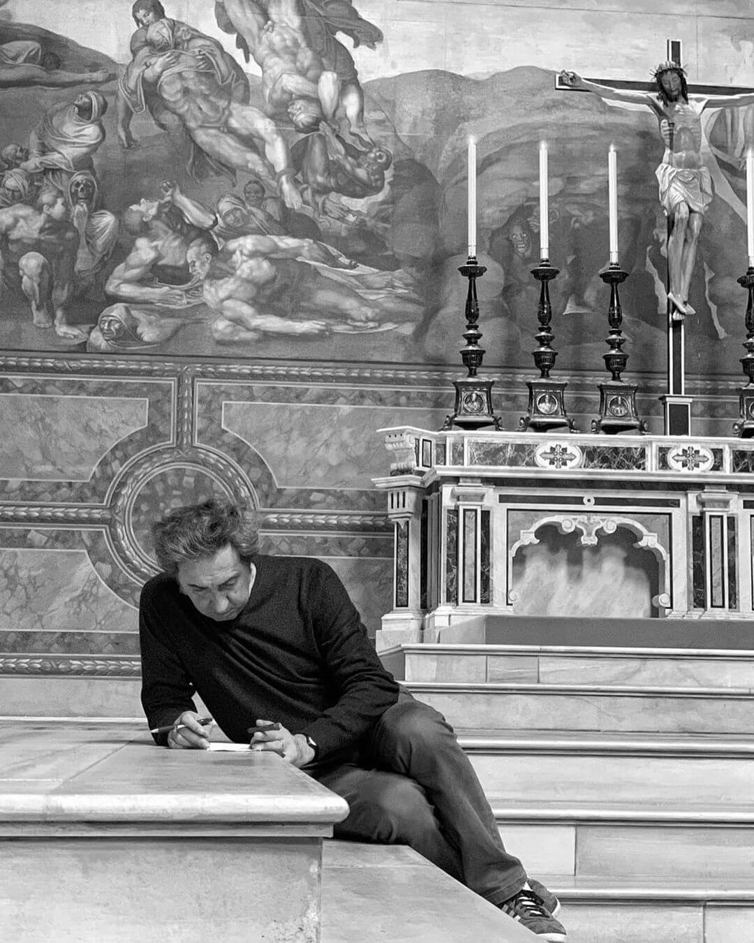 Паоло Соррентино в Сикстинской капелле