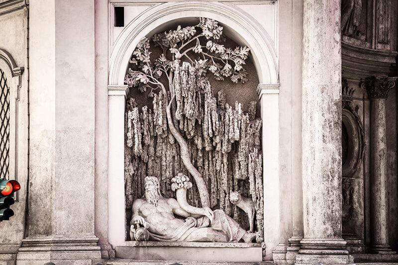 Перекресток четырех фонтанов в Риме