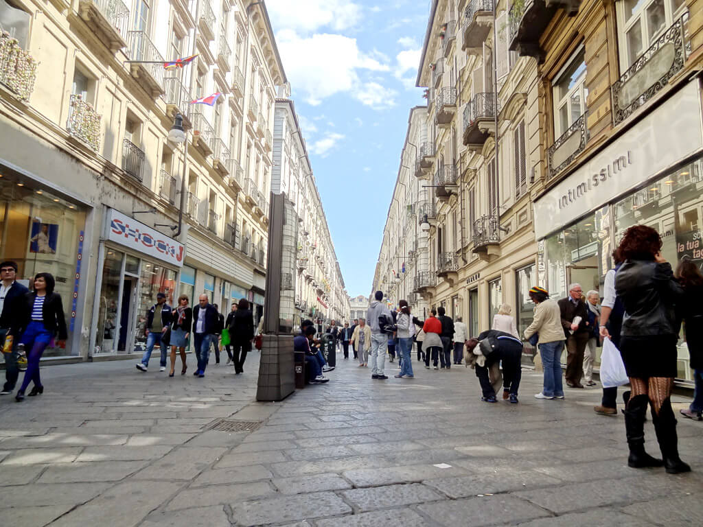 Via Garibaldi в Турине