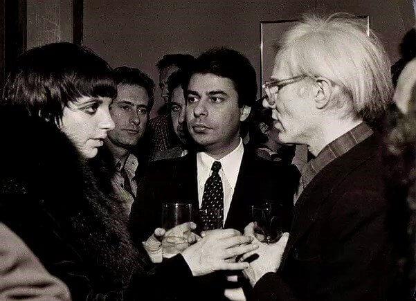 Лайза Миннелли и Энди Уорхол в галерее Виттория
