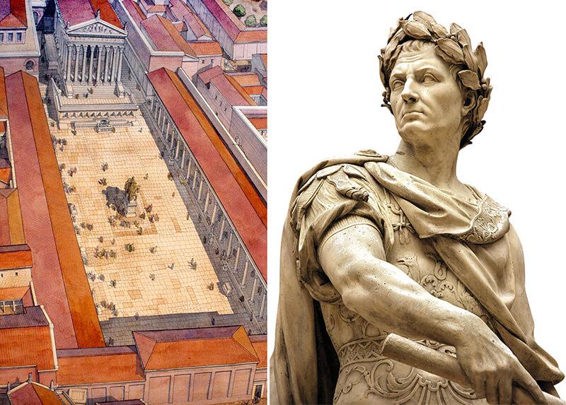 Форум Цезаря реконструкция