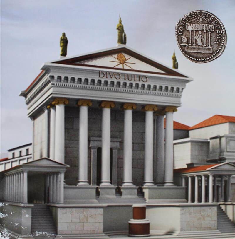 Храм Цезаря реконструкция