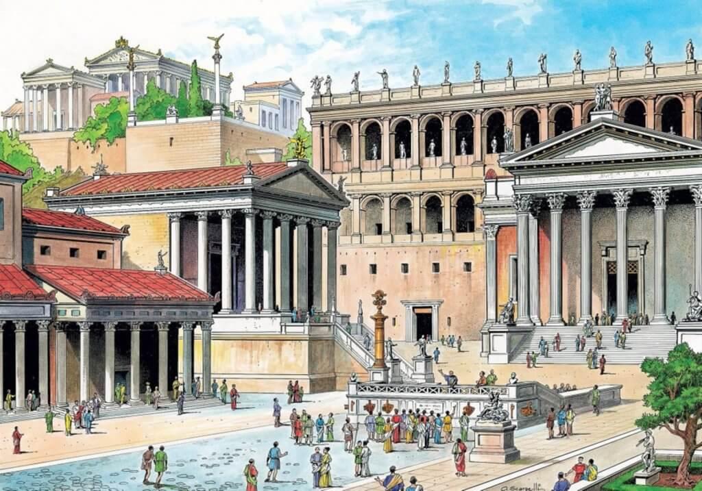Римский форум как выглядел раньше